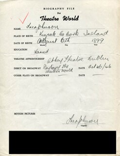FRED JOHNSON - AUTOGRAPH RESUME SIGNED