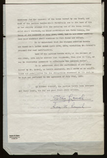 LAUREL & HARDY (STAN LAUREL) - DOCUMENT SIGNED 05/07/1934