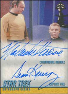 STAR TREK TV CAST - TRADING/SPORTS CARD SIGNED CO-SIGNED BY: MALACHI THRONE, SEAN KENNEY