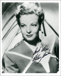 HILLARY BROOKE - AUTOGRAPHED SIGNED PHOTOGRAPH