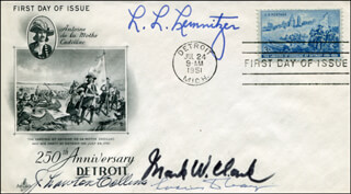 GENERAL LYMAN L. LEMNITZER - FIRST DAY COVER SIGNED CO-SIGNED BY: GENERAL J. LAWTON COLLINS, GENERAL LUCIUS D. CLAY, GENERAL MARK W. CLARK