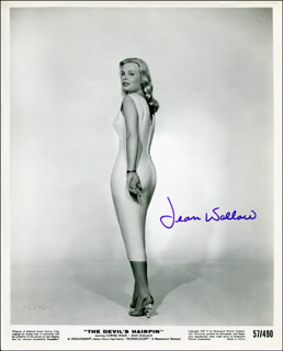 JEAN WALLACE - AUTOGRAPHED SIGNED PHOTOGRAPH