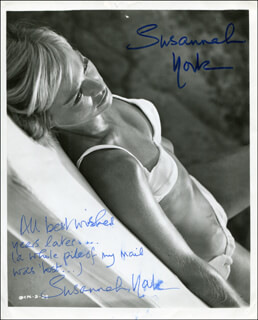 SUSANNAH YORK - PHOTOGRAPH DOUBLE SIGNED