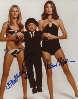 THE MAN WITH THE GOLDEN GUN MOVIE CAST - AUTOGRAPHED SIGNED PHOTOGRAPH CO-SIGNED BY: BRITT EKLAND, MAUD ADAMS