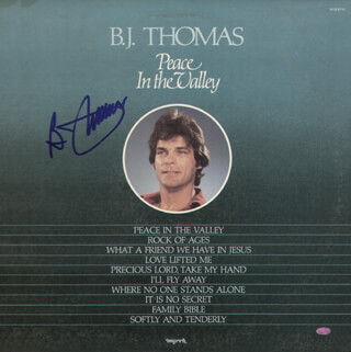 B. J. THOMAS - RECORD ALBUM COVER SIGNED