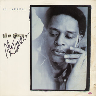 AL JARREAU - RECORD ALBUM COVER SIGNED
