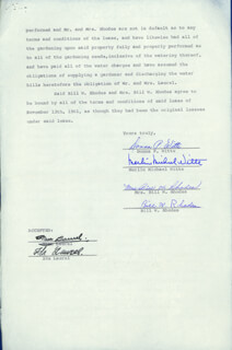 LAUREL & HARDY (STAN LAUREL) - DOCUMENT SIGNED 02/27/1962