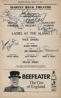 LADIES AT THE ALAMO PLAY CAST - SHOW BILL SIGNED CO-SIGNED BY: EILEEN HECKART, ESTELLE PARSONS, ROSEMARY MURPHY, SUSAN PERETZ, JAN FARRAND