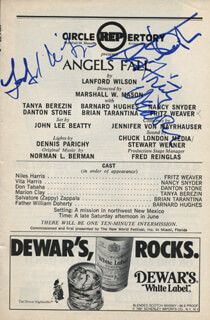 ANGELS FALL PLAY CAST - SHOW BILL SIGNED CO-SIGNED BY: BARNARD HUGHES, FRITZ WEAVER, LANFORD WILSON