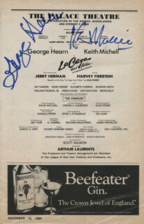 Autographs: LA CAGE AUX FOLLES PLAY CAST - SHOW BILL SIGNED CO-SIGNED BY: KEITH MICHELL, GEORGE C. HEARN