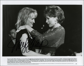 MERYL STREEP - PRINTED PHOTOGRAPH SIGNED IN INK