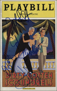 DIRTY ROTTEN SCOUNDRELS PLAY CAST - SHOW BILL SIGNED CO-SIGNED BY: JOHN LITHGOW, SHERIE RENE SCOTT, NORBERT LEO BUTZ, GREGORY JBARA, SARA GETTELFINGER