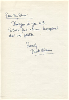 PETER MARK RICHMAN - AUTOGRAPH LETTER SIGNED