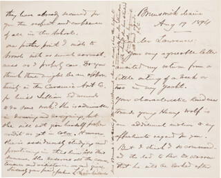 Autographs: MAJOR GENERAL JOSHUA LAWRENCE CHAMBERLAIN - AUTOGRAPH LETTER DOUBLE SIGNED 08/19/1894