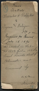 BLANCHE K. BRUCE - DEED SIGNED 07/18/1890