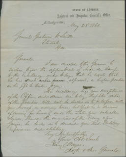 Autographs: BRIGADIER GENERAL HENRY C. WAYNE - MILITARY APPOINTMENT SIGNED 05/23/1863