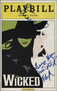 WICKED PLAY CAST - SHOW BILL SIGNED CO-SIGNED BY: GEORGE C. HEARN, CHRISTOPHER FITZGERALD, JOEY McINTYRE