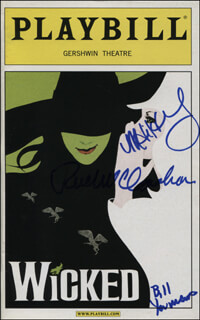WICKED PLAY CAST - SHOW BILL SIGNED CO-SIGNED BY: RUE McCLANAHAN, WILLIAM YOUMANS, MEGAN HILTY