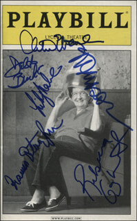 Autographs: STEEL MAGNOLIAS PLAY CAST - SHOW BILL SIGNED CO-SIGNED BY: MARSHA MASON, CHRISTINE EBERSOLE, DELTA BURKE, REBECCA GAYHEART, FRANCES STERNHAGEN, LILY RABE