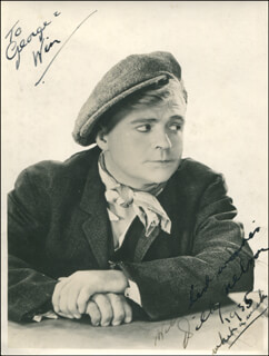 BILLY NELSON - AUTOGRAPHED INSCRIBED PHOTOGRAPH 1935