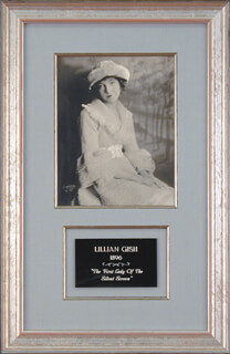 LILLIAN GISH - AUTOGRAPHED SIGNED PHOTOGRAPH