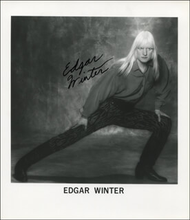EDGAR WINTER - AUTOGRAPHED SIGNED PHOTOGRAPH
