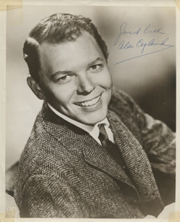 ALAN COPELAND - AUTOGRAPHED SIGNED PHOTOGRAPH