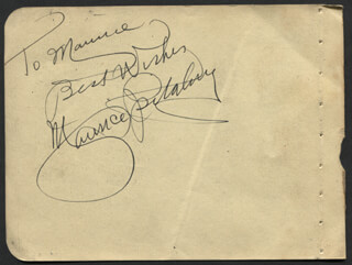 MAURICE SPITALNY - AUTOGRAPH NOTE SIGNED