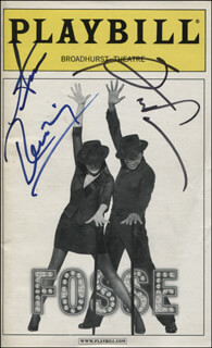 FOSSE PLAY CAST - SHOW BILL SIGNED CO-SIGNED BY: BEN VEREEN, ANN REINKING