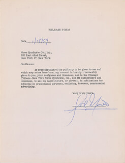 SAL MINEO - DOCUMENT SIGNED 01/15/1959