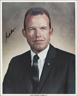 COLONEL GORDON COOPER JR. - AUTOGRAPHED SIGNED PHOTOGRAPH