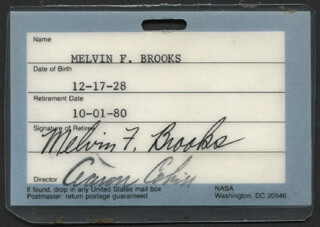 MELVIN F. BROOKS - PASS SIGNED