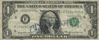 Autographs: CAPTAIN EDGAR D. MITCHELL - CURRENCY SIGNED