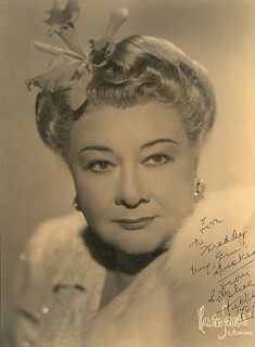 SOPHIE TUCKER - AUTOGRAPHED INSCRIBED PHOTOGRAPH 1941
