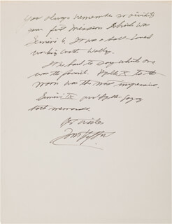 LT. GENERAL THOMAS P. STAFFORD - AUTOGRAPH MANUSCRIPT SIGNED