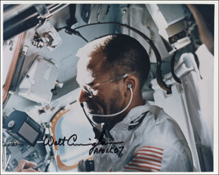 COLONEL WALTER CUNNINGHAM - AUTOGRAPHED SIGNED PHOTOGRAPH