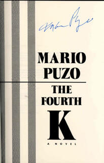 MARIO PUZO - BOOK SIGNED