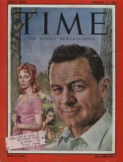 WILLIAM HOLDEN - MAGAZINE COVER SIGNED