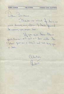 ROBERT CONRAD - AUTOGRAPH LETTER SIGNED