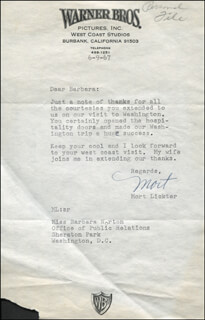 MORT LICKTER - TYPED LETTER SIGNED 06/09/1967
