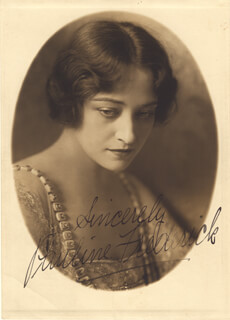 PAULINE FREDERICK - AUTOGRAPHED SIGNED PHOTOGRAPH