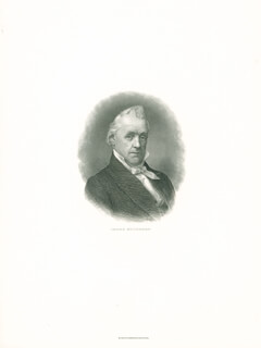 PRESIDENT JAMES BUCHANAN - ENGRAVING UNSIGNED