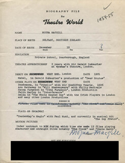 MOYNA MACGILL - TYPED RESUME SIGNED