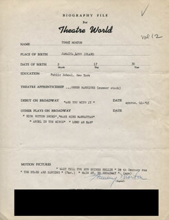 TOMMY MORTON - TYPED RESUME SIGNED