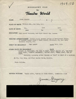 JAMES GREGORY - TYPED RESUME SIGNED