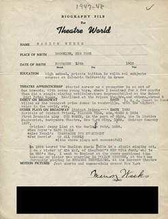 MARION WEEKS - TYPED RESUME SIGNED