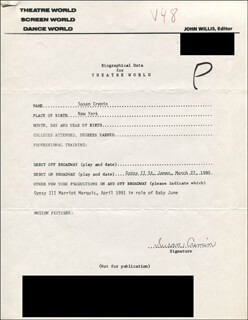 SUSAN CREMIN - TYPED RESUME SIGNED