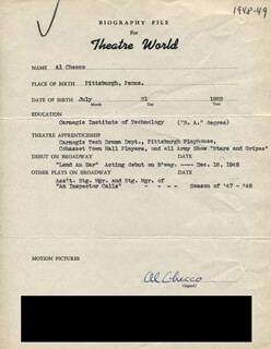 AL CHECCO - TYPED RESUME SIGNED