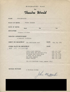 JOHN McMARTIN - TYPED RESUME SIGNED