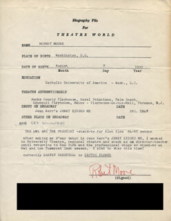 ROBERT MOORE - TYPED RESUME SIGNED